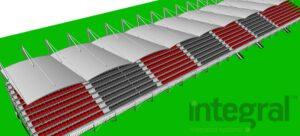 curved grandstands