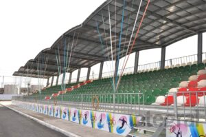 curved grandstand