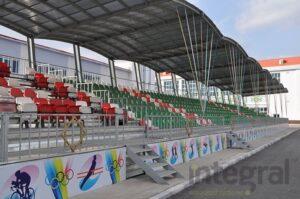 curved grandstand model